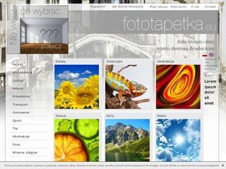 Sklep online oferujący foto tapety